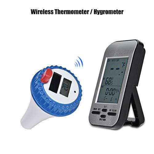 Bewinner Termómetro inalámbrico/higrómetro Medidor de Temperatura Medidor de Humedad Termómetro...