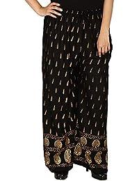 Decipher International Women's Rayon Black Palazzo (Size : M,L,XL,XXL)
