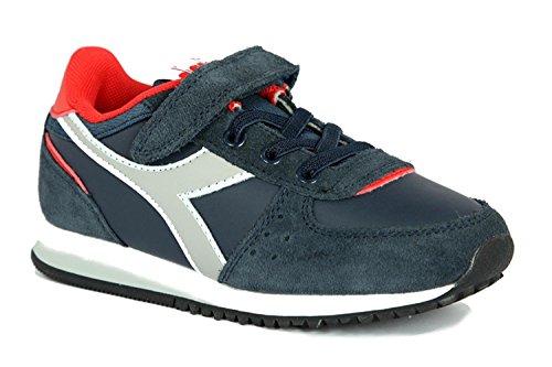 Sneakers Pelle Bambino DIADORA 60065 BLU PROFONDO
