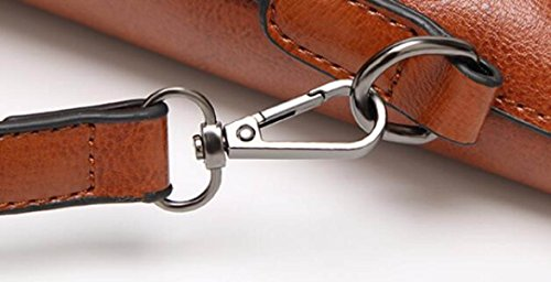 Damen Damen Pfanne Öl Wachs Leder Messenger Tasche Schultertasche Handtasche Reißverschluss Black