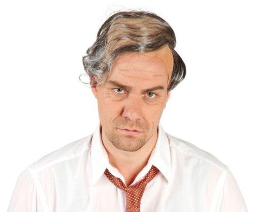 Opa Perücke mit Glatze und grauem Haar Opaperücke