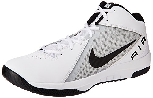 Nike Herren the Air Overplay IX Sportschuhe-Basketball, Blanco (White / Black-Pure Platinum), 41 EU