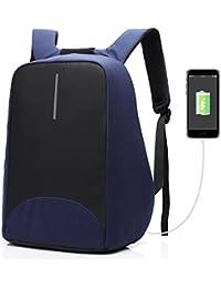 Coolbell Sac à Dos d'ordinateur Portable DE 15.6 Pouces avec Port USB de Charge/Sac Anti-vol Léger de Ville/Sac à Dos Fonctionnel Knapsack Backpack/Sac à Dos Imperméable pour Hommes/Femmes (Bleu)