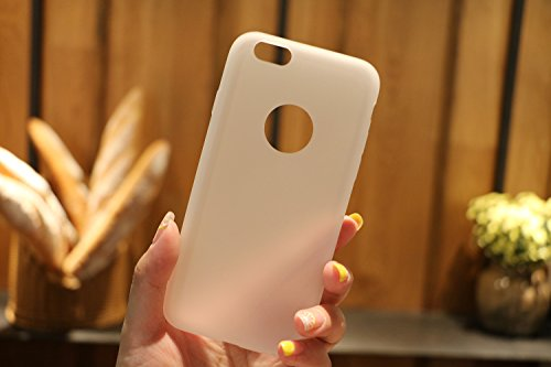 Cover iPhone 6S (4.7),ToDo Custodia iPhone 6 Gel Silicone TPU Morbido Elegant Ultra Tinta Unita Sottile Opaco Flessibile Gomma Cassa Protettiva Antiurto AntiGraffio Antiscivolo Leggero Cellulari Prot Traslucido