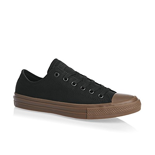 Converse Mens Chuck II Gum Low Top Canvas Trainers Nero