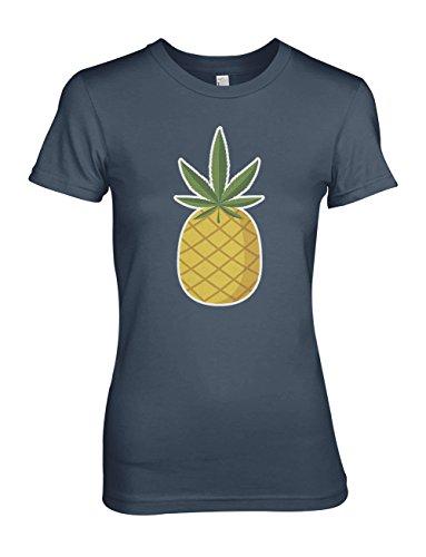Pineapple Double Meaning 420 Sarcastic Komisch Damen T-Shirt Blau