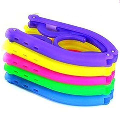 SaySure - 5pcs Colorful Candy Color Travel Foldable Portable Mini