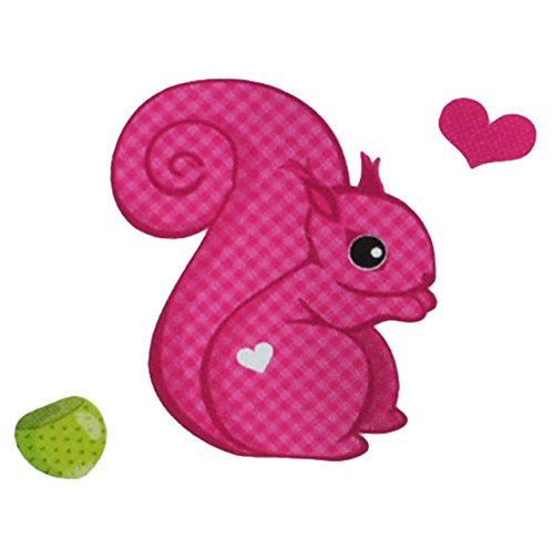 Unbekannt 9 tlg. Set - Transferbild & Bügelbild - Eichhörnchen mit Nüssen - für Textilien - Bügelbilder Eichhorn Waldtiere - für Kinder und Erwachsene / Thermotransferbild / Ideal für T-Shirt