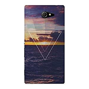 Neo World Inverted Oceanic Triangle Back Case Cover for Sony Xperia M2