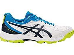 ASICS Mens Gel-Peake 5 White/Insignia Blue/Hawaiian Surf Cricket Shoes - 8 UK/India (42.5 EU)(9 US)