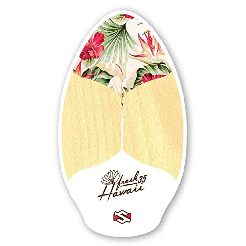 Skimboard SkimOne 35 / 90cm Fresh Hawaii White Wake Skate Wellenbrett Strandbrett Holz