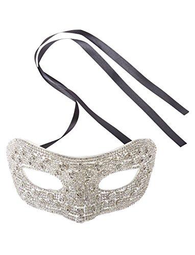 Maske Domino mit grauen Steinen Keine ()