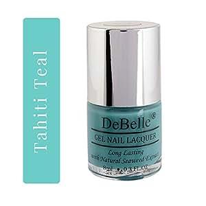 DeBelle Gel Nail Lacquer Tahiti Teal - 8 ml ( Teal Green Nail Polish)