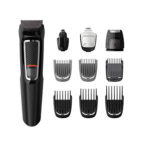 Philips Series 3000 All-In-One Trimmer for Beard, Hair and Body with Nose Trimmer and Charging Stand – MG3740/13