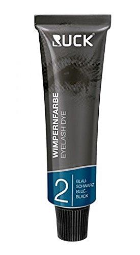 RUCK Wimpernfarbe, blau-schwarz Wasserfeste Intensivfärbung, 15ml