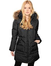 De plumón de Pajar para mujer de pelo diseño de Puma de conejo almohadilla de silla de chaqueta para con forro con chaqueta de