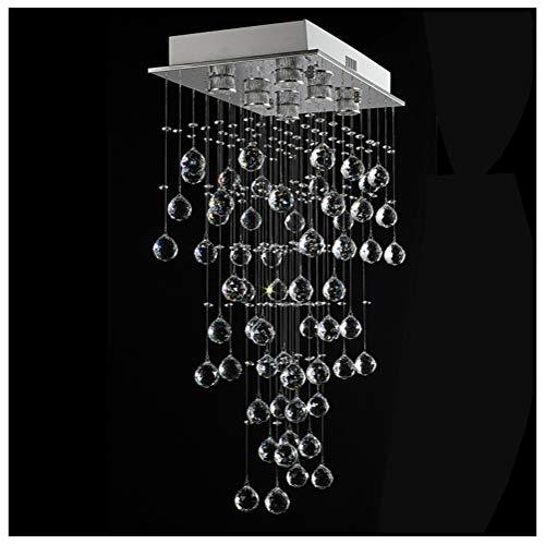 Shirley Home Dimmbare LED Pendelleuchte Moderne Rechteckige Kronleuchter Wohnzimmer Deckenbeleuchtung Kreative Restaurant Bar Hängelampe Innenbeleuchtung Deckenbeleuchtung - Moderne Rechteckige Kronleuchter