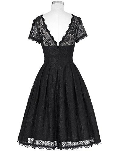 vintage Retro petticoat Kleid Festliche Kleid Lace Kleid XL BP168-1 -
