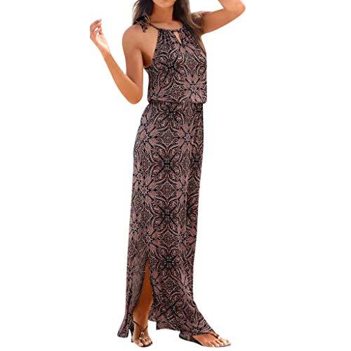 SCHOLIEBEN Vintage Böhmische Kleid Damen Sommer Festliche Jersey Schöne Elegante Abend Abschlussball Maxi Lang Sexy Partykleid Sommerkleid Maxikleid Strandkleider