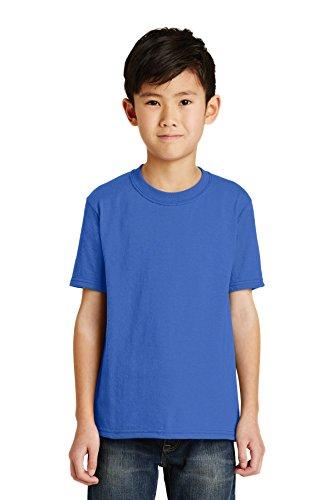 Port & Company Boys' 50/50 Cotton/Poly T Shirt L Royal - Pc55y Port