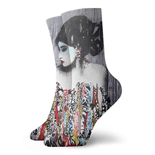 Crew Sock Fashion Sexy Girl Printed Sport Athletic Socks 30cm Long Personalized Gift Socks ()
