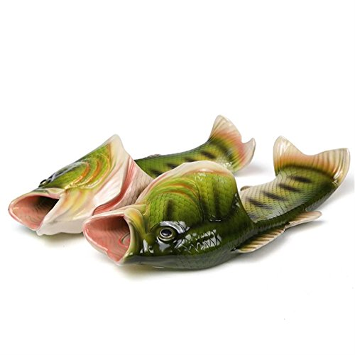 Uniqstore Sandals Tricky Fish Slippers Creative Fish Style Beach Shoes Simulation Fish Beach Slippers for Men Boy