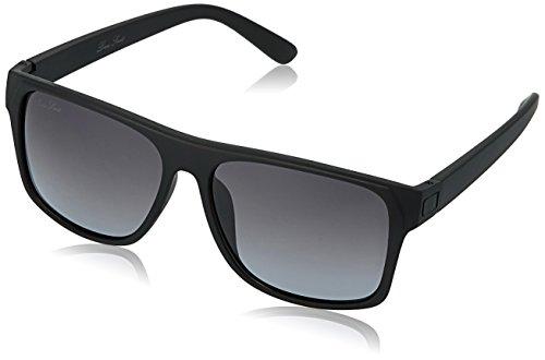 LOUIS SMIT Polarized Wayfarer Men\'s Sunglasses - (LS103 C2|55|Grey Gradle Color)