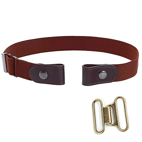 Cintura da uomo senza fibbia comoda Cintura da jeans vita alta Cintura invisibile regolabile