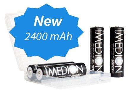 Powerex Imedion precaricate Pile AA Mignon LR6 R6 2400 mAh Ni-Mh 1.2V (confezione da 4)