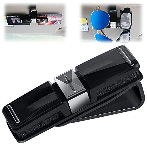 Brillenhalter für Auto Sonnenblende Clip - Bakicey Sonnenbrillen Halter Fahrzeug Doppel Sonnenbrille Brille montieren mit Parkticket Card Clip (Gentleman Knoten)