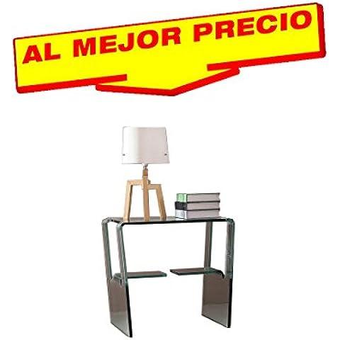 MESA AUXILIAR PARA SALÓN, CRISTAL CURVADO, 50X50 CM, DISEÑO MODERNO