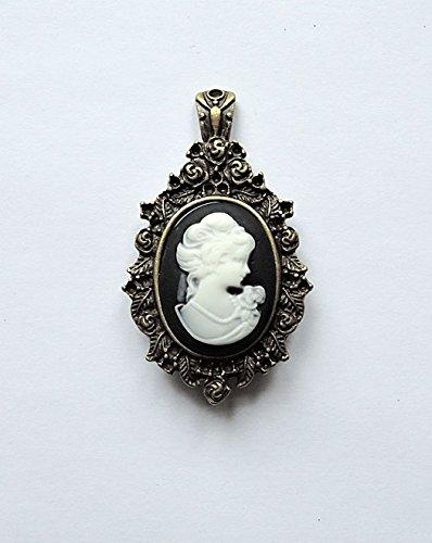 Viktorianische Brosche mit Gemme (Mode-Schmuck/Retro/Cameo/Belle (Viktorianischen Kostüme Und Mode)