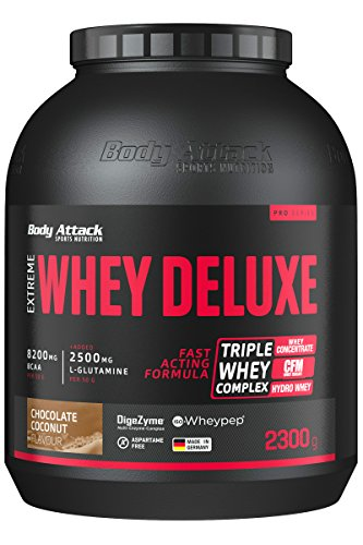 Body Attack Extreme Whey Deluxe, Chocolate-Coconut Cream, 2,3kg Dose