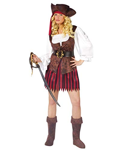 Horror-Shop Sexy Piraten Lady Kostüm Medium - Sexy Piraten Lady Kostüm