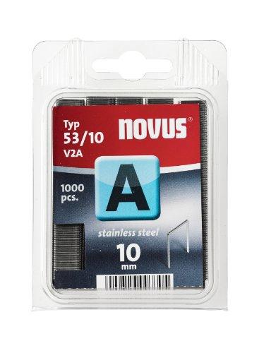 Novus 042-0458 Blister de 1000 Agrafes fines 53/10 V2A Inox Rouge
