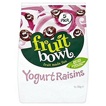 Fruit Bowl Fruit Flakes Yoghurt Raisins 5 x 30g