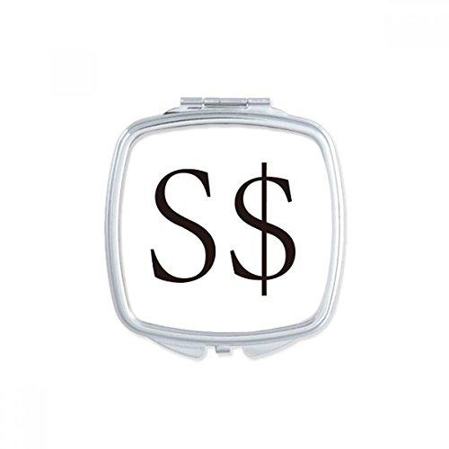 DIYthinker Währung Symbol Singapur Dollar Square Compact Make-up Taschenspiegel Tragbar Niedliche Kleinen Hand Spiegel Geschenk