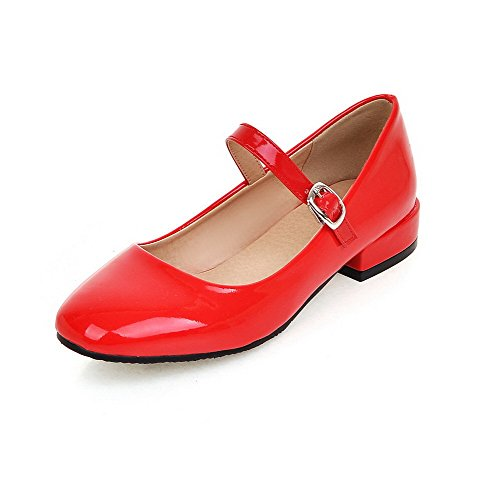 allhqfashion-womens-pu-solid-buckle-square-closed-toe-low-heels-pumps-shoes-red-41