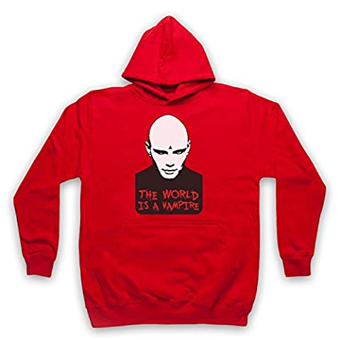 Inspired by Smashing Pumpkins Bullet Butterfly Wings Unofficial Adults Hoodie, Red, Large