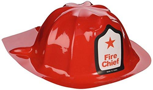 Preisvergleich Produktbild Rhode Island Novelty Plastic Firefighter Chief Hat (Set of 12) by Rhode Island Novelty