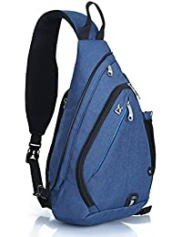 EGOGO Multifuncional Pack de Mochila Bandolera, Cruz cuerpo Pack, Mochila de Hombro cabestrillo bolsa para hombres y mujeres Deportes Gimnasio Ciclismo Senderismo Escuela E300-4 (Azul)
