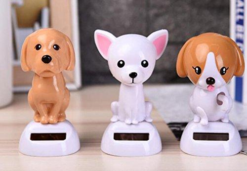 stili classici bambino scarpe sportive Dettagli su Decorazione auto Solare Pet Accessori per cani Oscillante Pet  Dog (Chihuahua)