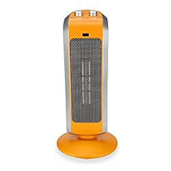 Crane USA EE-7588O Crane Ceramic Tower Heater, Orange, 19 Inch