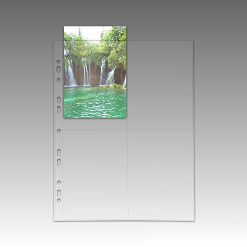 fotohuellen 10x15 100 Fotohüllen Postkartenhüllen 10 x 15 cm Hochformat transparent 76950