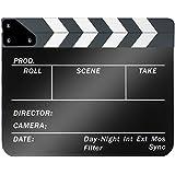 Neewer® Clap Cinéma Film en Plastique Acrylique 10x12Inch/25x30cm Scènes d'Action Cut Clapper Ardoise avec Perche Bâtons Blanc/Noir