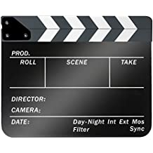 Neewer - Ciak da regista cinematografico, in plastica acrilica 25x 30cm, cancellabile, con assicelle di colore bianco/nero