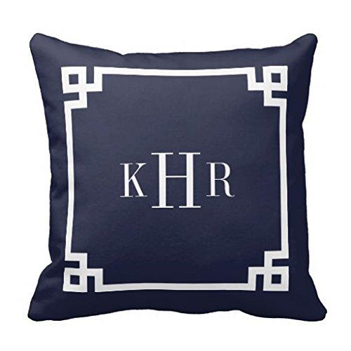Bordo chiave copertura del cuscino decorativo blu