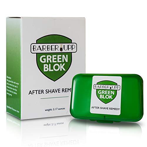 BARBERUPP Alaunstein, nach der Rasur, 100% Alaun, Rasieren Zubehör, 100  Gramm Lagerung Fall eingeschlossen, Styptic Haut beruhigende Alum Grün Blok