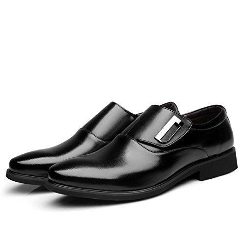 Scarpe Uomini Affari Scarpe Casual Uomini Scarpe Da Vestiti Moda Scarpe Da Uomo Velcro Matrimonio Scarpe Da Guru Black
