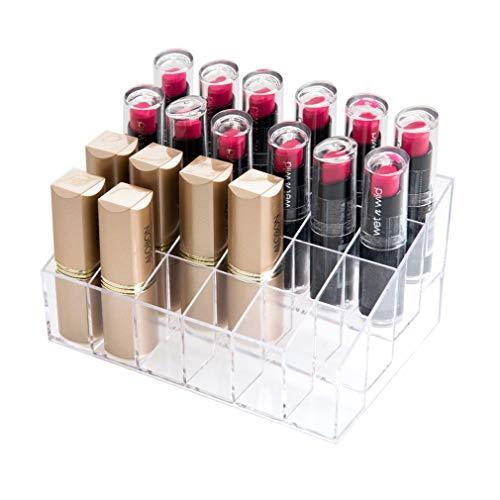Organisateur de Maquillage Rouge À Lèvres 24 Unités de Cosmétique de Boîte de Stockage de Grille pour L'affichage des Brosses, des Rouges À Lèvres, du Vernis À Ongles de Maquillage